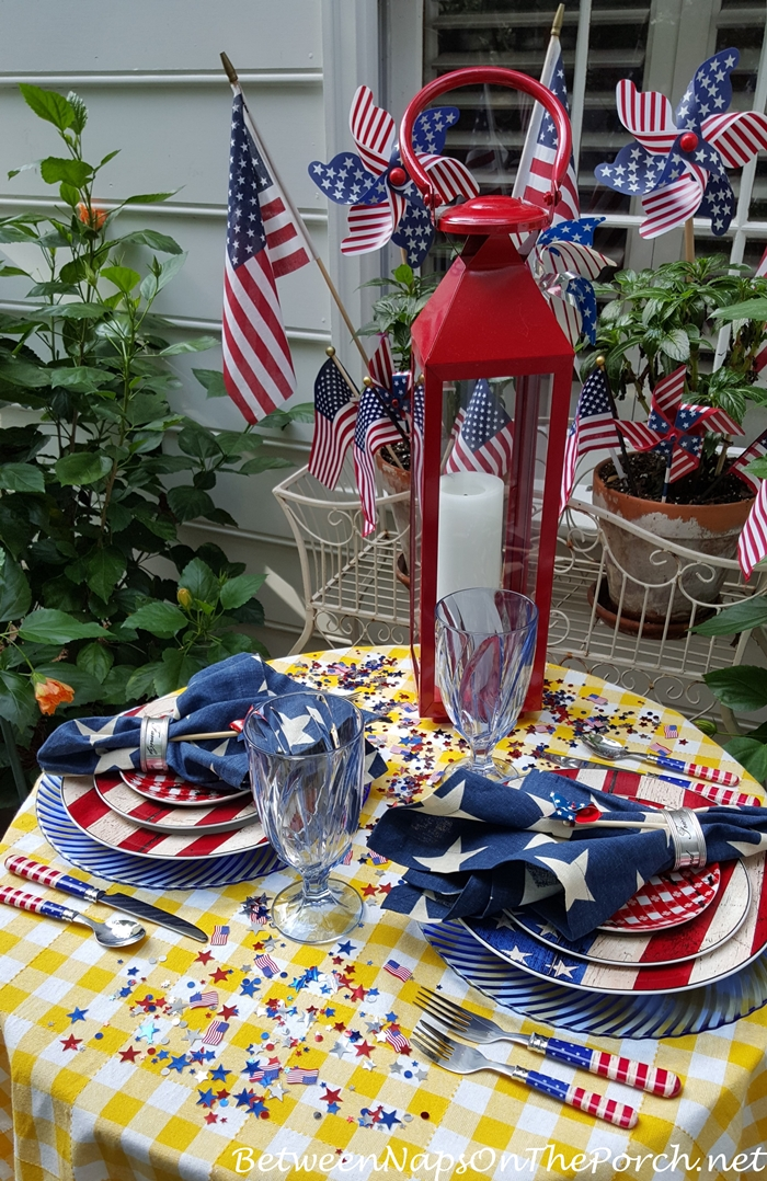 Patriotic Tablescape for Labor Day or 4th of July 03