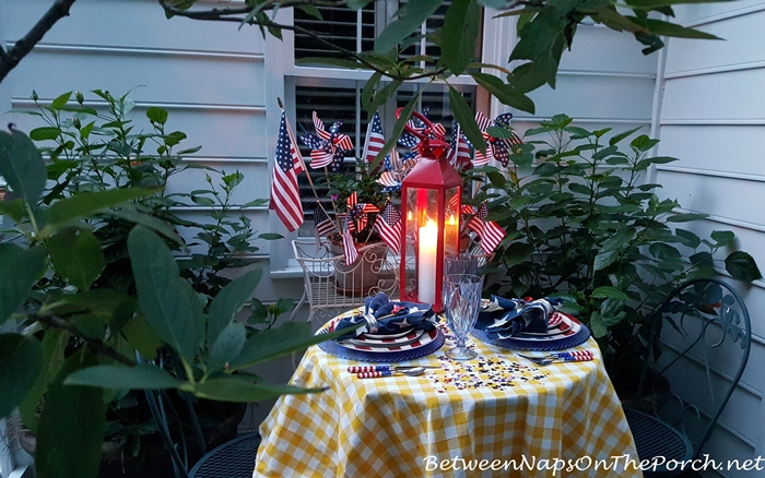 Patriotic Tablescape for Labor Day or 4th of July 05