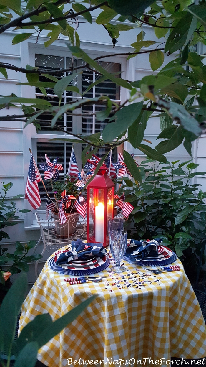 Patriotic Tablescape for Labor Day or 4th of July 07