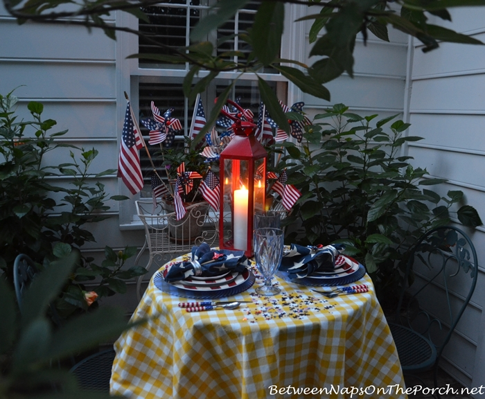 Patriotic Tablescape for Labor Day or 4th of July 09