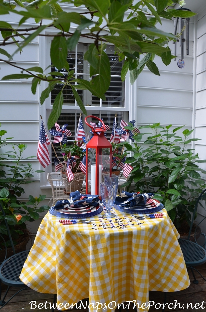 Patriotic Tablescape for Labor Day or 4th of July 10