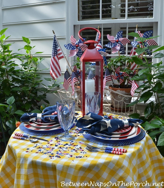Patriotic Tablescape for Labor Day or 4th of July 11