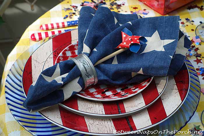 Patriotic Tablescape for Labor Day or 4th of July 13