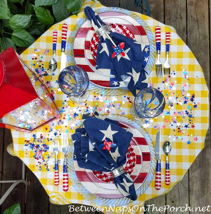 Patriotic Tablescape for Labor Day or 4th of July