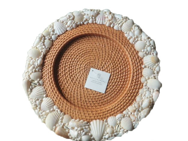Pottery Barn Shell Charger