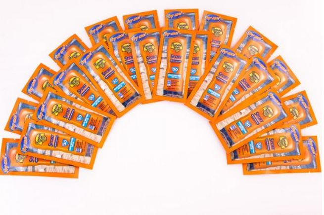 Sunscreen Individually Packaged for Trips