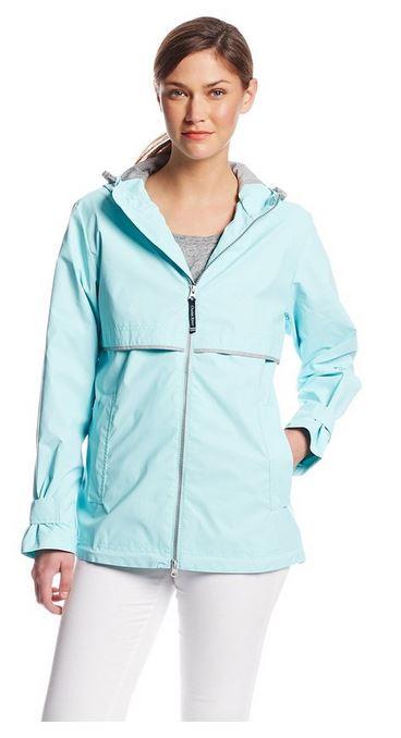 Waterproof Rain Jacket in Aqua