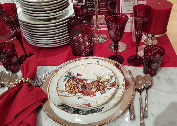Christmas Dishes With Santa and his Sleigh