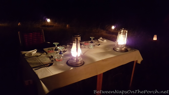 Dinner in the Bush White on Safari in Kenya, Africa 04