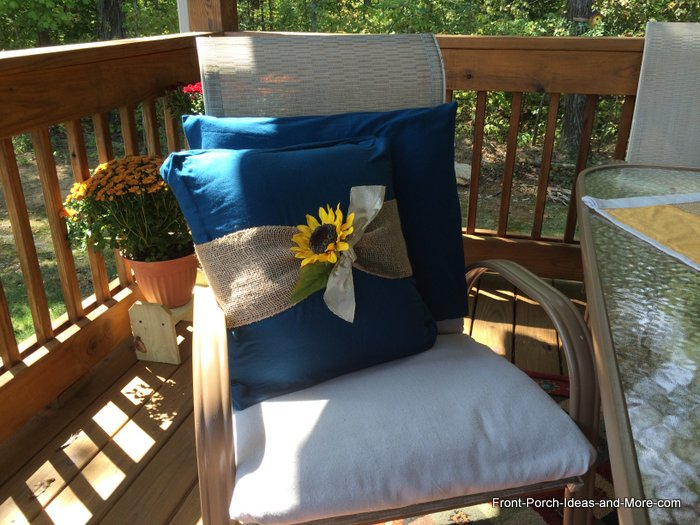 Fall Pillows for the Porch
