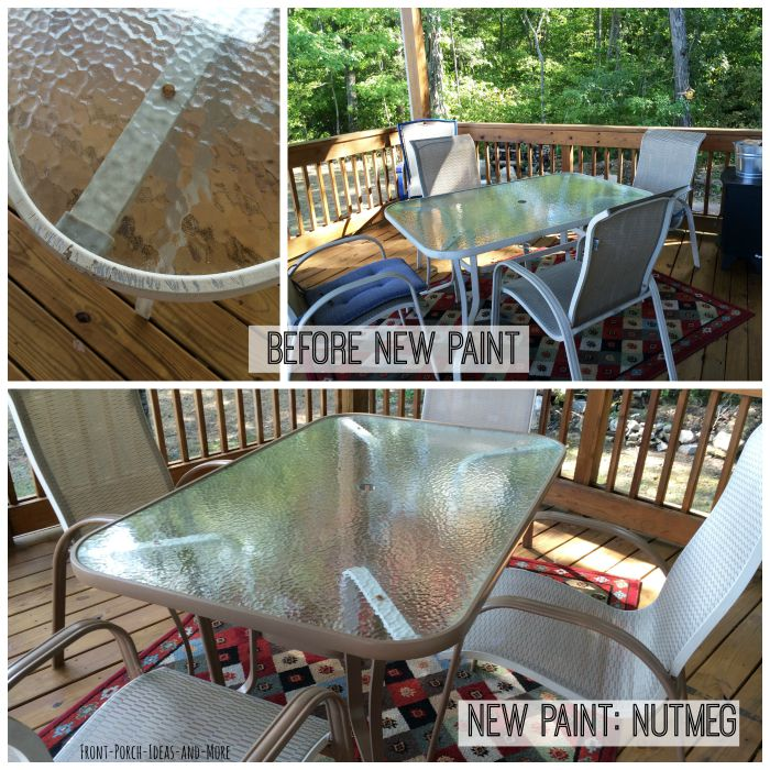 Freshen Up An Outdoor Table With New Paint