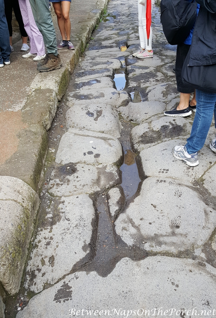 Herculaneum Roads with Chariot Tracks and Grooves
