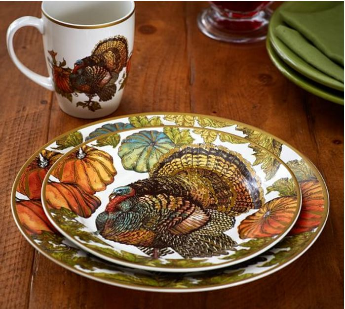 Heritage Turkey Dishware from Pottery Barn