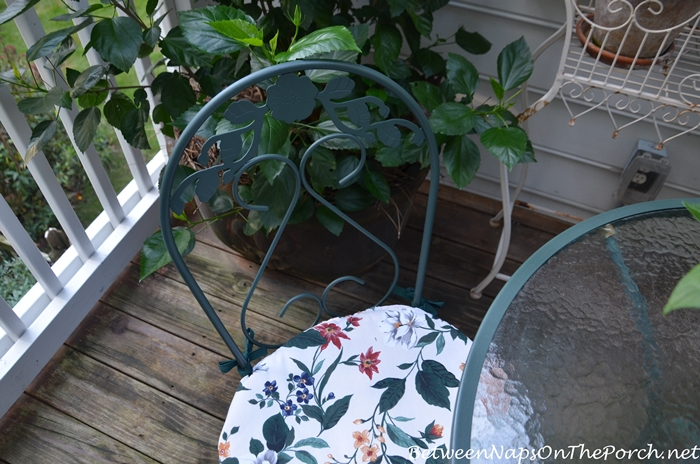 Makeover for Outdoor Bistro Set
