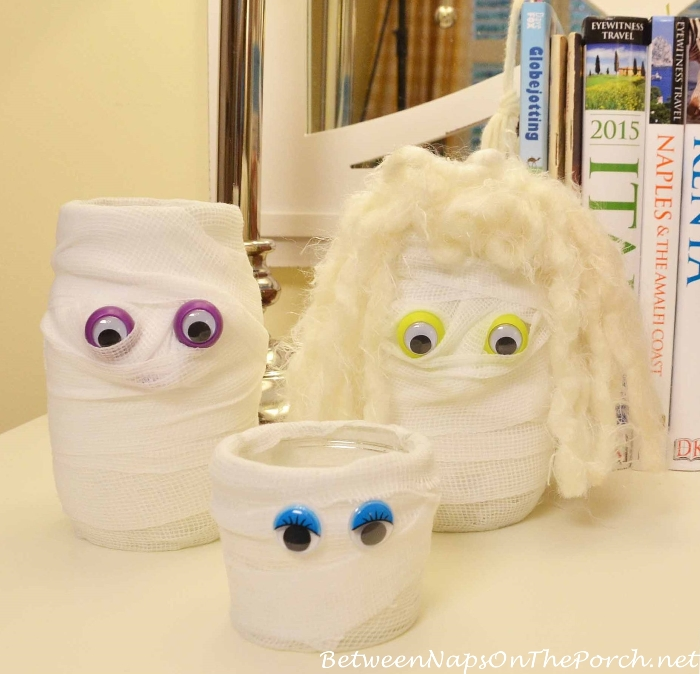 Mummy Candle Holder Craft for Halloween
