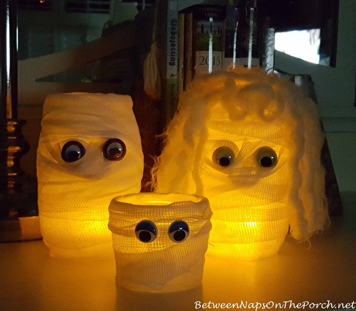 Mummy Candle Holder for Lit Halloween