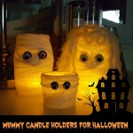 Halloween Craft: Mummy Candle Holders