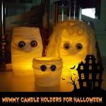 Halloween Craft: Mummy Candle Holders