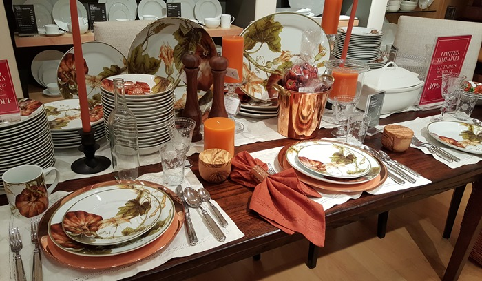 Plymouth Pumpkin China for Thanksgiving and Fall at Williams Sonoma & Get Ready for Holiday Entertaining \u0026 Dining Everything Is On Sale!