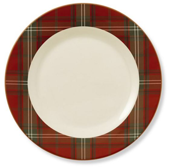 Pottery Barn Red Tartan Chargers