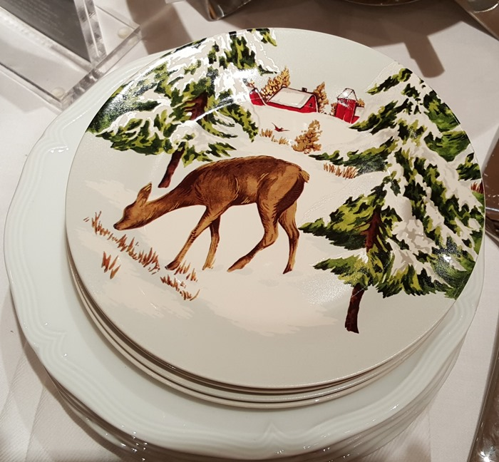 Snowy Christmas Dishware with Deer
