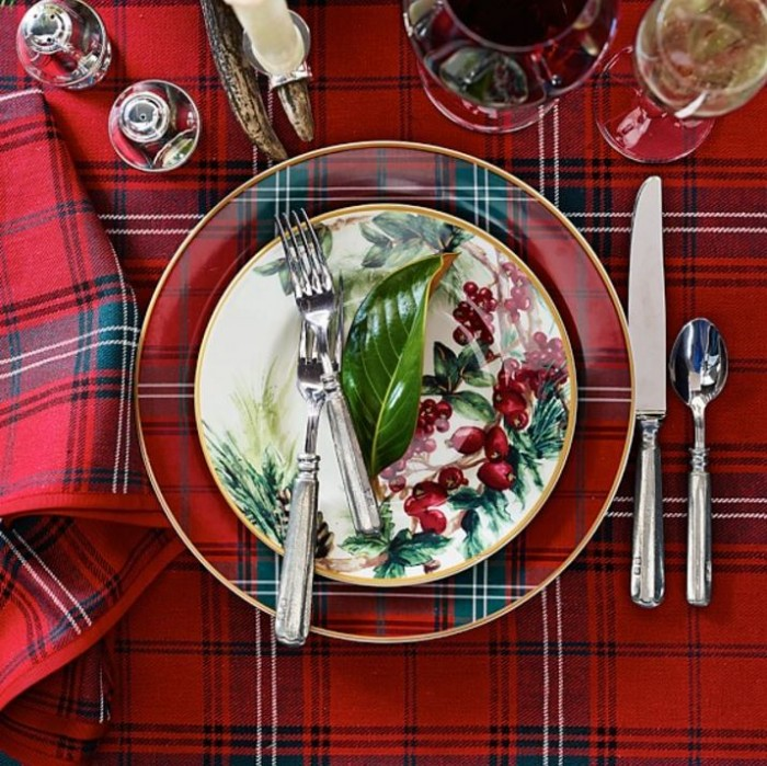 Tartan Dishware from Williams Sonoma