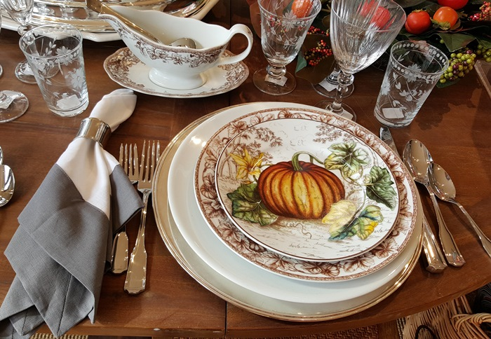 Thanksgiving China, Plymouth Pumpkin, Williams Sonoma