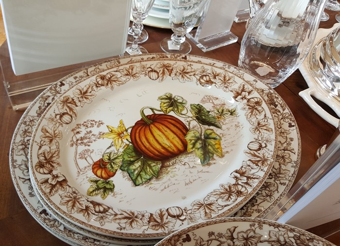 Thanksgiving Plymouth Pumpkin Plates, Williams Sonoma