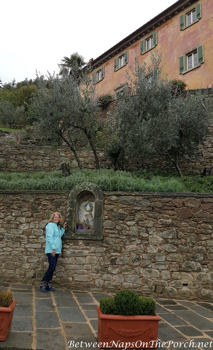 The Shrine in front of Bramasole, Frances Mayes Italy Home