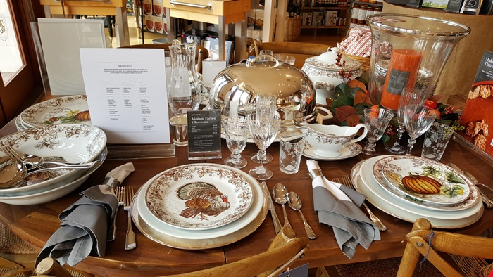 Turkey Dishware for Thanksgiving from Williams Sonoma