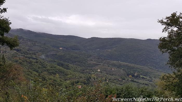 View from Bramasole, Frances Mayes Villa in Cortona Italy