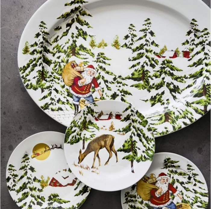 Vintage Holiday Dishware, Williams Sonoma