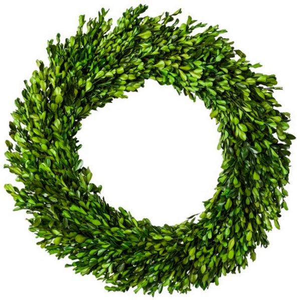 21 Inch Preserved Boxwood Wreath