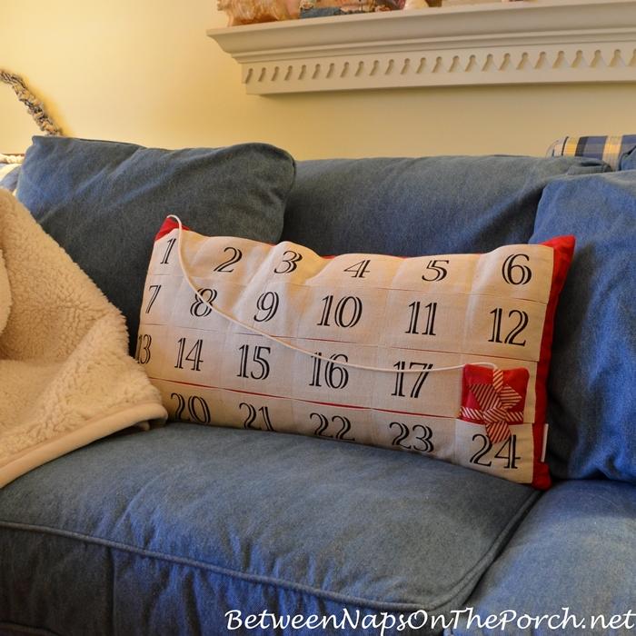 Advent Calendar Pillow for Christmas