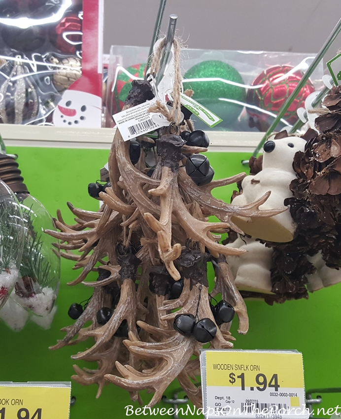 Antler Christmas Ornaments in Tablescapes