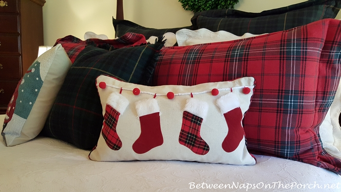 Christmas Pillow with Stockings