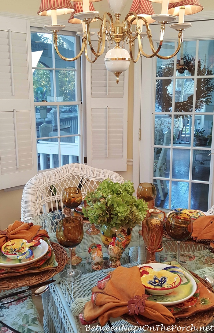 Fall Tablescape with Limelight Hydrangea Centerpiece
