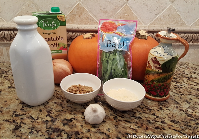 Ingredients for Roasted Pumpkin Soup