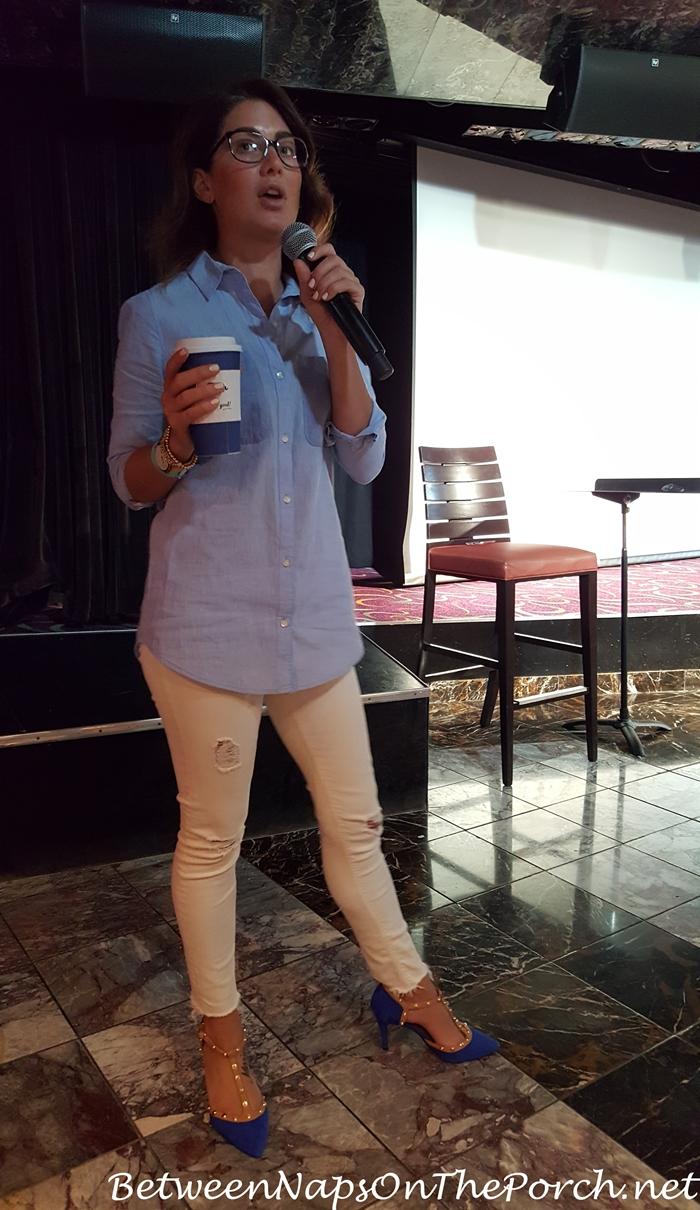 Jillian Harris Speaking at Sailing With The Scotts Cruise