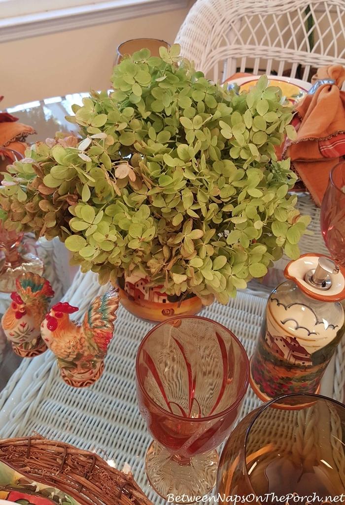 Limelight Hydrangea Centerpiece