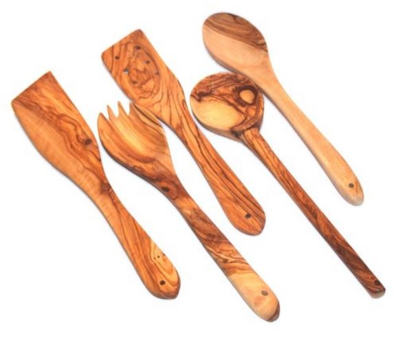 Olive Wood Spoons and Spatulas