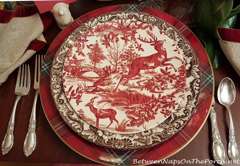 Pottery Barn Alpine Toile Plates