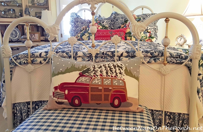 Pottery Barn Woody Car Pillow for Christmas