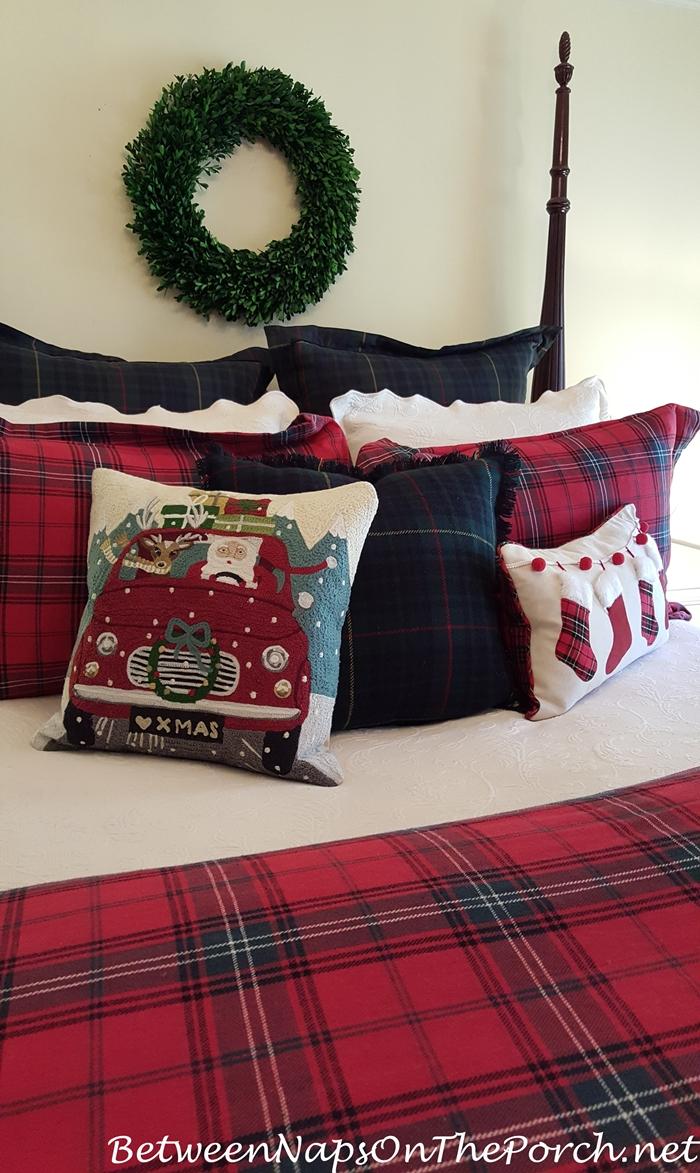 Road Trip Santa Pillow for Christmas