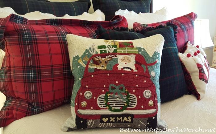 Road Trip Santa Pillow