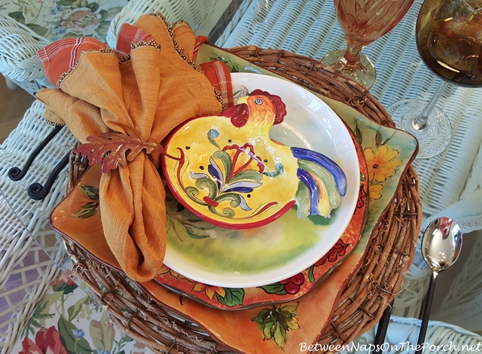 Rooster Appetizer Plate, Yellow Talavera