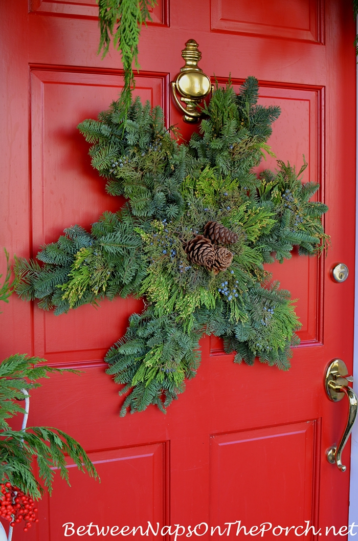 Snowflake Wreath for Red Door for Christmas