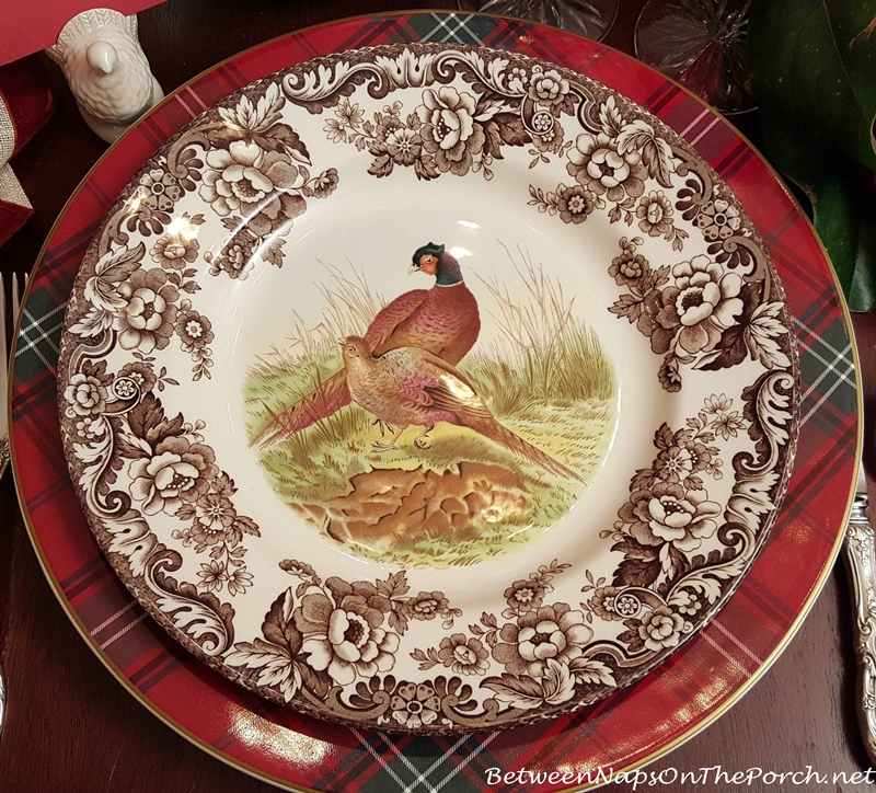 Thanksgiving Table with Woodland Spode