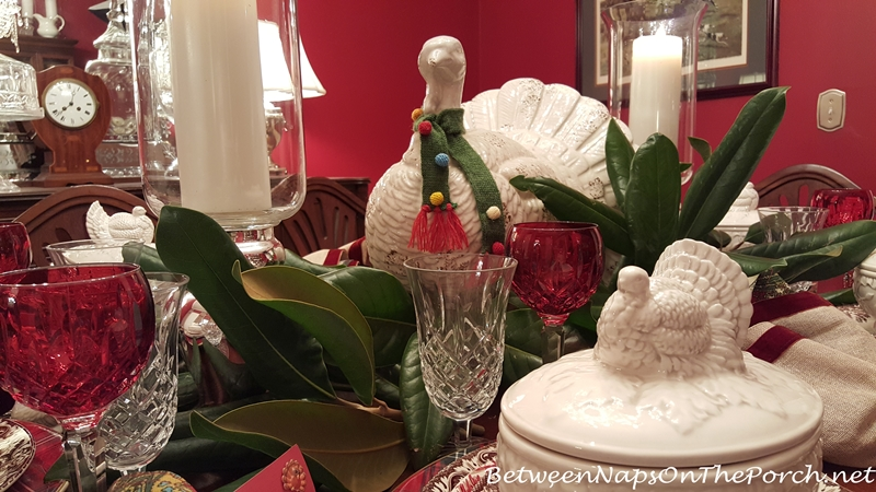 Thanksgiving Tablescape with Turkey Theme