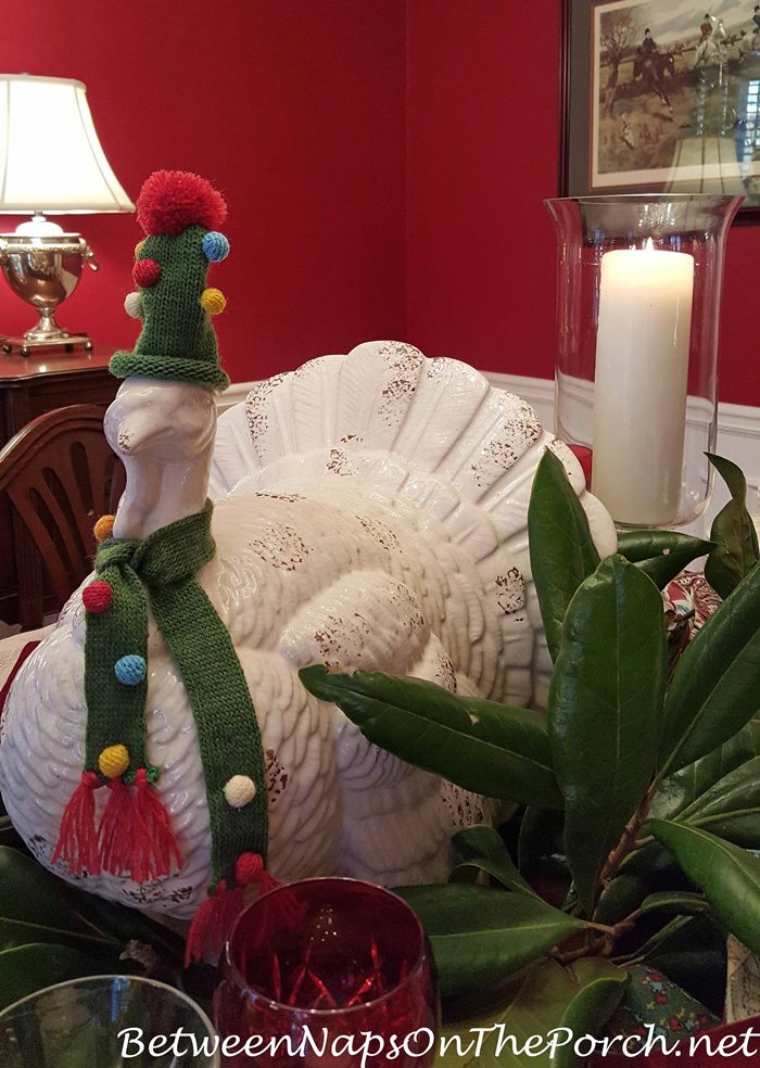 Whimsical Turkey Centerpiece for Thanksgiving